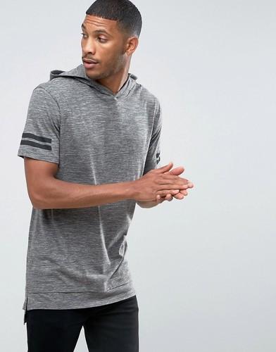 Свободная футболка с капюшоном Jack & Jones Core - Серый