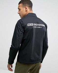 Спортивная куртка с принтом на спине Jack & Jones - Черный
