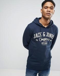 Худи с графическим принтом Jack & Jones Originals - Темно-синий