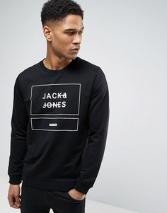 Свитшот с графическим принтом Jack & Jones Core - Черный