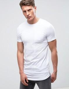 Длинная футболка с удлиненным краем Jack & Jones Core - Белый