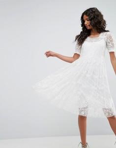 Платье из тюля с вышивкой Needle & Thread - Кремовый