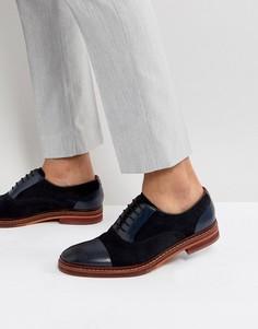 Темно-синие замшевые оксфордские туфли Ted Baker Saskat - Темно-синий