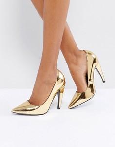 Туфли на каблуке с острым носком ASOS PROSECCO - Золотой