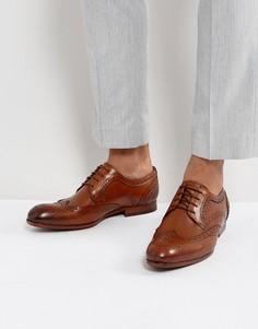 Светло-коричневые кожаные броги Ted Baker - Рыжий