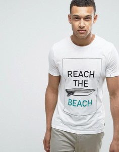 Футболка с принтом пляж Produkt - Белый