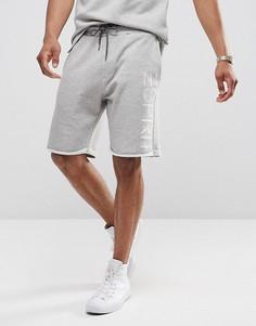 Трикотажные шорты из органического хлопка с логотипом сбоку Esprit - Серый