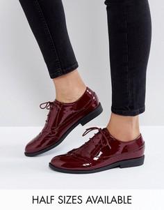 Туфли на плоской подошве ASOS MAYHEM - Красный
