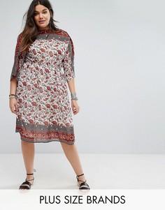 Платье миди с принтом пейсли Boohoo Plus - Мульти