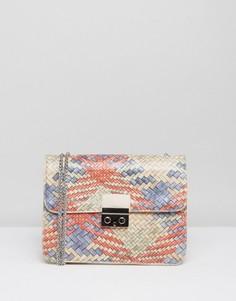 Разноцветная фактурная сумка через плечо Silvian Heach - Красный