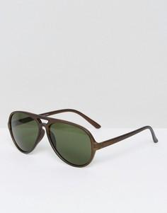 Солнцезащитные очки-авиаторы Selected Homme - Черный