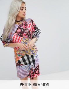 Свободное платье-футболка с принтом Jaded London - Мульти