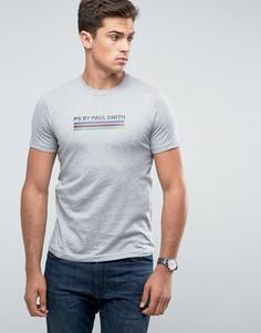 Серая узкая футболка с полосками PS by Paul Smith - Серый