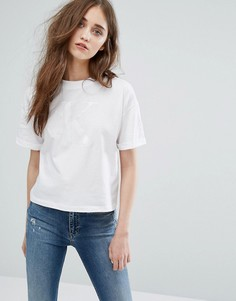 Футболка с логотипом в тон Calvin Klein Jeans - Белый