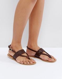Кожаные сандалии ASOS FORGIVE ME - Коричневый