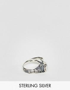 Серебряное кольцо с черепом ASOS - Серебряный