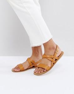 Кожаные сандалии ASOS FINALLY - Рыжий
