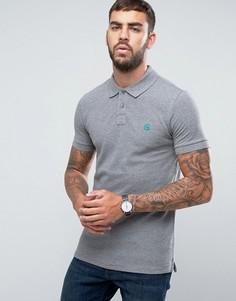 Серая узкая футболка-поло с логотипом PS by Paul Smith - Серый