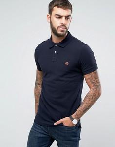 Облегающая футболка-поло с логотипом PS by Paul Smith - Темно-синий