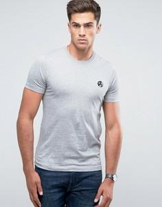 Серая узкая меланжевая футболка с логотипом PS by Paul Smith - Серый