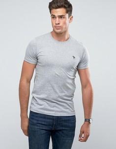 Серая узкая футболка с логотипом в виде зебры PS by Paul Smith - Серый