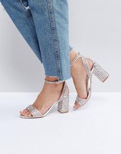 Босоножки на каблуке с заклепками Carvela Gianni - Розовый
