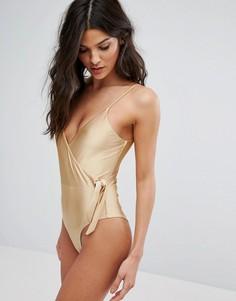 Слитный купальник с запахом Somedays Lovin - Золотой