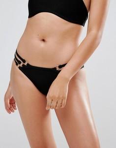 Бандажные трусы бикини с лямками Missguided - Черный