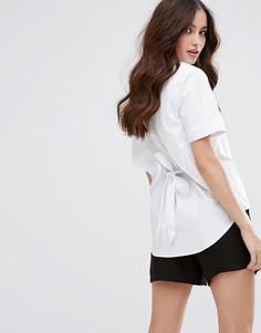 Рубашка с коротким рукавом и открытой спиной Fashion Union - Белый