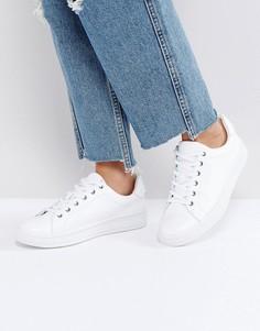 Белые однотонные кроссовки Calvin Klein Black Label Solange - Белый