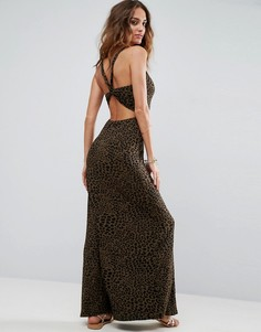 Платье макси с леопардовым принтом ASOS - Мульти