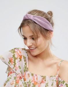 Сиреневая плиссированная повязка на голову с узлом ASOS - Фиолетовый