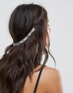 Украшение для волос с монетками ASOS - Серебряный