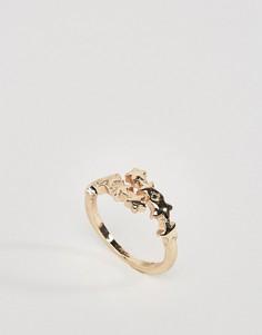 Кольцо со звездами ASOS - Золотой