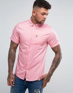 Эластичная оксфордская рубашка с короткими рукавами Luke 1977 Sports - Розовый