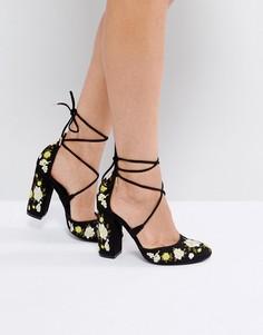 Туфли-лодочки на блочном каблуке Truffle Collection - Мульти