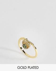 Кольцо с изумрудом Rock N Rose - Золотой