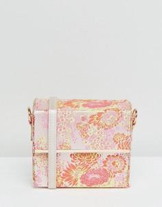 Сумка через плечо с цветочным принтом New Look - Розовый