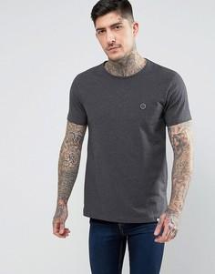 Серая футболка с круглым вырезом Pretty Green Mitchell - Серый
