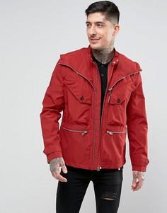 Куртка с обработанными швами Pretty Green Capella - Красный
