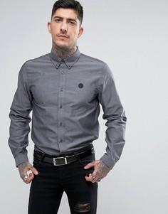 Черная оксфордская рубашка Pretty Green - Черный