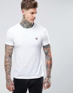 Белая футболка с круглым вырезом Pretty Green Mitchell - Белый