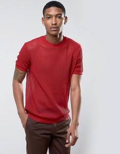 Красная сетчатая футболка ASOS - Красный