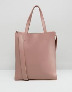 Розовая большая сумка-тоут без подкладки Claudia Canova - Розовый