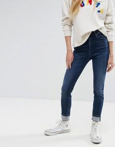 Зауженные джинсы с высокой талией Tommy Hilfiger Denim - Синий