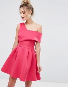Платье для выпускного с перекрестным дизайном Miss Selfridge - Розовый