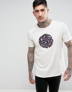 Песочная футболка с аппликацией-логотипом Pretty Green Beaufort - Светло-серый