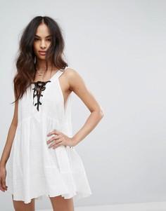 Платье мини с завязками One Teaspoon - Белый