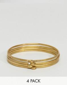 4 браслета Made Kathondi - Золотой