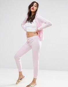 Велюровые джоггеры скинни Juicy Couture - Розовый